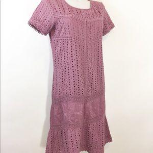 Sundance Dusty Lilac Eyelet Dress size 8